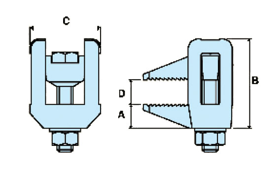 Diagram - BL Flange Clamp
