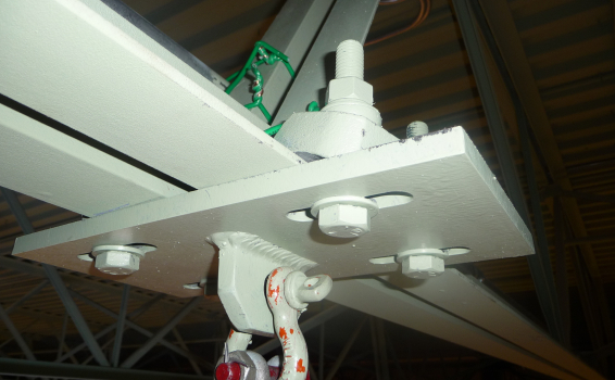 Suspension Of Led Display Screen Using Bk Rigging Clamps