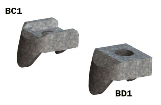 BeamClamp Components Type BC1 and BD1