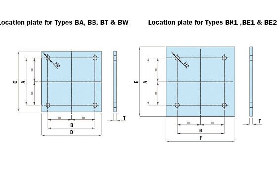 Diagram - Location Plates/Brackets
